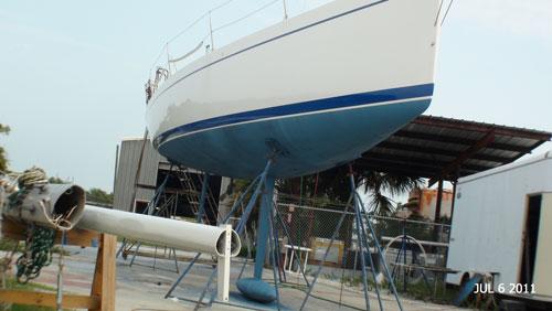 Starboard side of boat