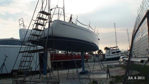 Starboard side stern view