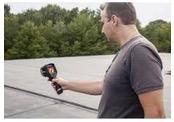 Man using infrared tool