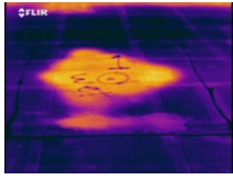 infrared pattern on a roof